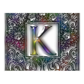 Monogram K Postcard