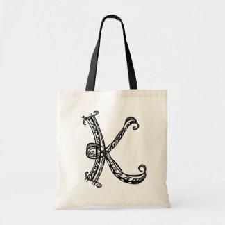 Monogram K Tote Bag
