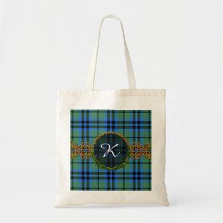 Monogram Keith Tartan Tote Bag