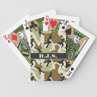 Monogram Khaki, Black, Tan Camo Playing Cards