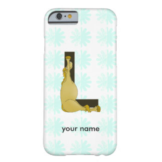 Monogram L Flexible Horse Personalised Barely There iPhone 6 Case