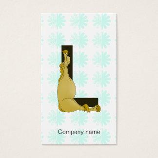 Monogram L Flexible Horse Personalised Business Card