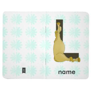 Monogram L Flexible Horse Personalised Journal
