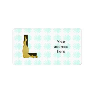 Monogram L Flexible Horse Personalised Label