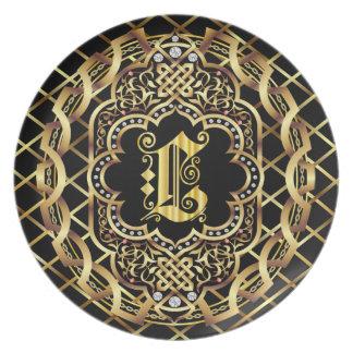 Monogram L IMPORTANT Read About Design Dinner Plate