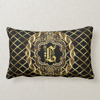 Monogram L IMPORTANT Read About Design Lumbar Pillow