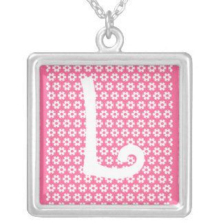 Monogram L Silver Plated Necklace