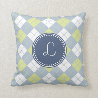 Monogram 'L' Throw Pillow