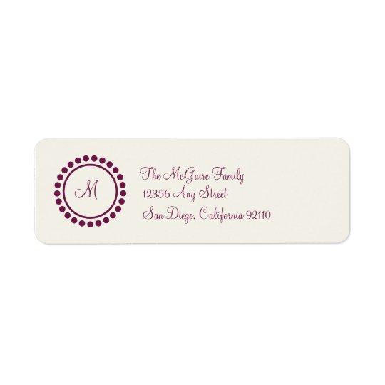 Monogram Label (burgundy)