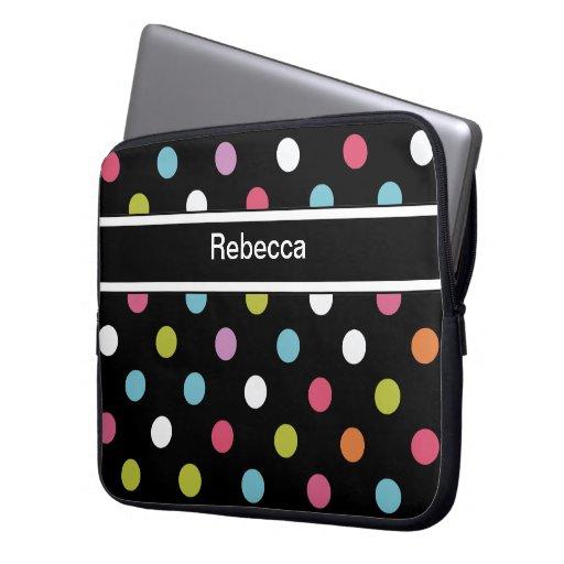 Monogram Laptop Case Polka Dots Laptop Computer Sleeves