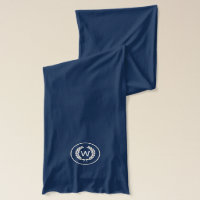 Monogram Laurel Leaf Wreath Scarf