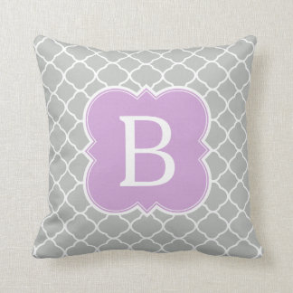 Lavender And Gray Throw Pillows : Lavender Monogram Pillows - Decorative & Throw Pillows Zazzle