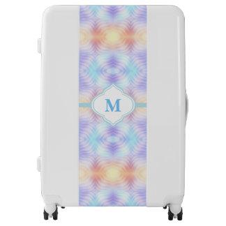 Monogram Lavender Teal Yellow Melon Luggage
