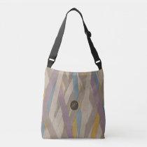 Monogram leather colorful stripes crossbody bag