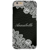 Monogram Leather Lace Look iPhone 6 Case