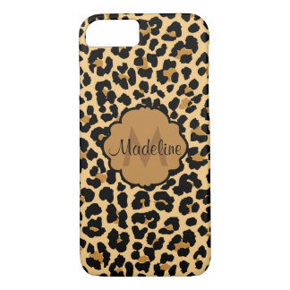 Monogram Leopar Print Pattern iPhone Case