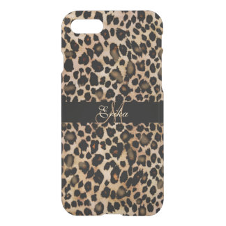 Monogram Leopard Animal Print iPhone 7 Case