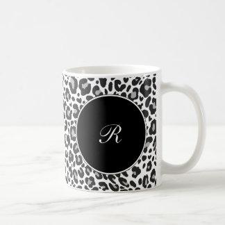 Monogram Leopard Coffee Mugs
