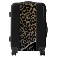 Monogram Leopard Glitter and Diamonds Luggage