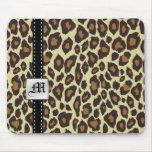 Monogram Leopard Mousepad