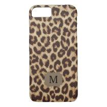 Monogram Leopard Print iPhone 7 Case