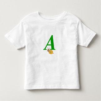 Monogram letter A brian the snail toddler t-shirt