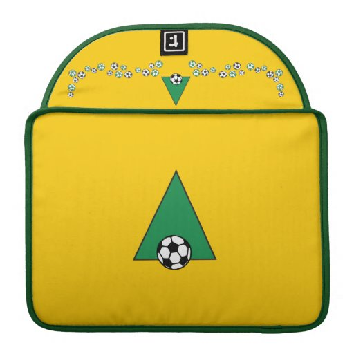 Monogram Letter A in Soccer Green MacBook Pro Sleeves