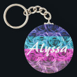 "Monogram Letter A Multi Color Roses Keychain<br><div class=""desc"">Pretty Multicolor Roses -  Keychain - Easy to change/add text. For a personal touch add name or initials.</div>"