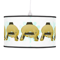 Monogram  Letter A Pony Pendant Lamp