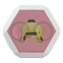 Monogram  Letter A Pony White Bluetooth Speaker