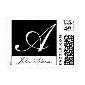 Monogram Letter A Stamp