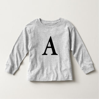 monogram Letter A toddler shirt