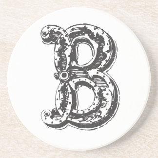 Monogram Letter B Decorative Coaster