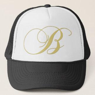Monogram Letter B Golden Single Trucker Hat