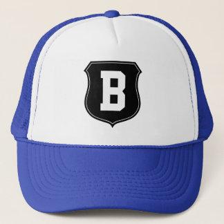 Monogram letter B hat   Personalized sports caps