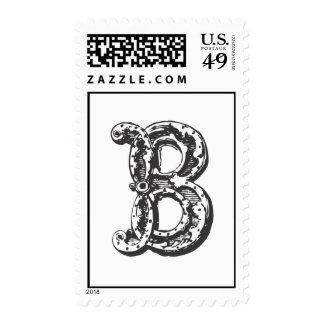 Monogram Letter B in Black Postage