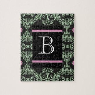 Monogram letter B Jigsaw Puzzle