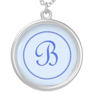 Monogram letter B necklace