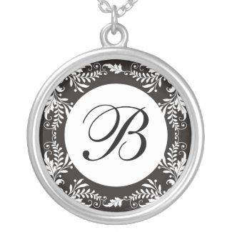 Monogram Letter B Pendant Necklace necklace