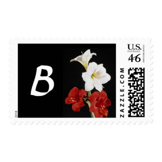 Monogram Letter B Postage Stamps