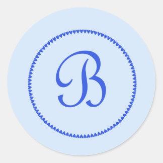 Monogram letter B stickers