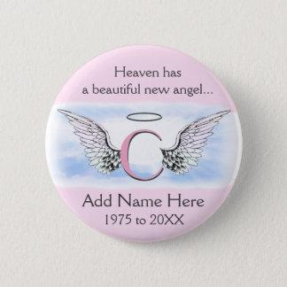 Monogram | Letter C | Add Name | Memorial Button