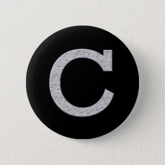 Monogram Letter C Button