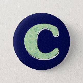Monogram Letter C Pinback Button