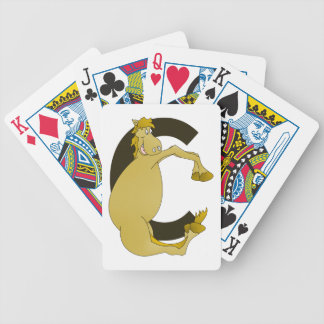 Monogram  Letter C Pony Bicycle Playing Cards