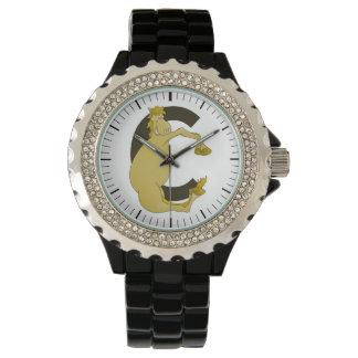 Monogram  Letter C Pony Wristwatch