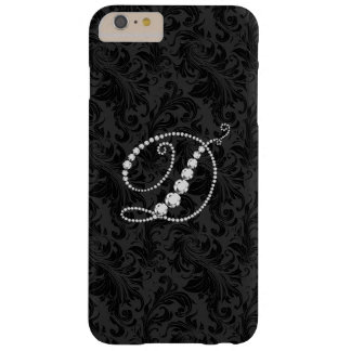 Monogram Letter D In Diamonds Barely There iPhone 6 Plus Case