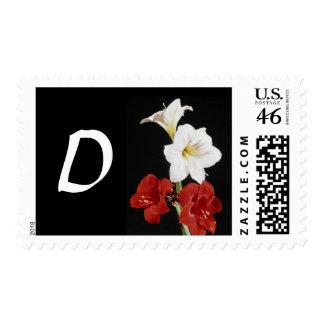 Monogram Letter D Postage Stamps