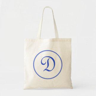 Monogram letter D tote bag