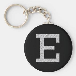 Monogram Letter E Keychain